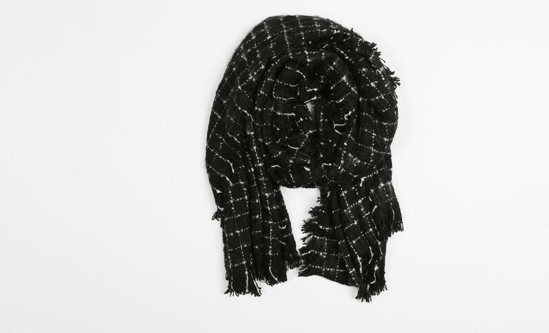 Geruite sjaal zwart