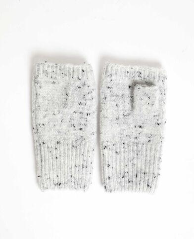 Mitaines in gemengde stof grijs