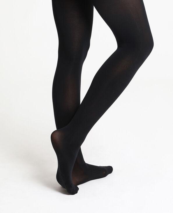 Ondoorzichtige panty's zwart