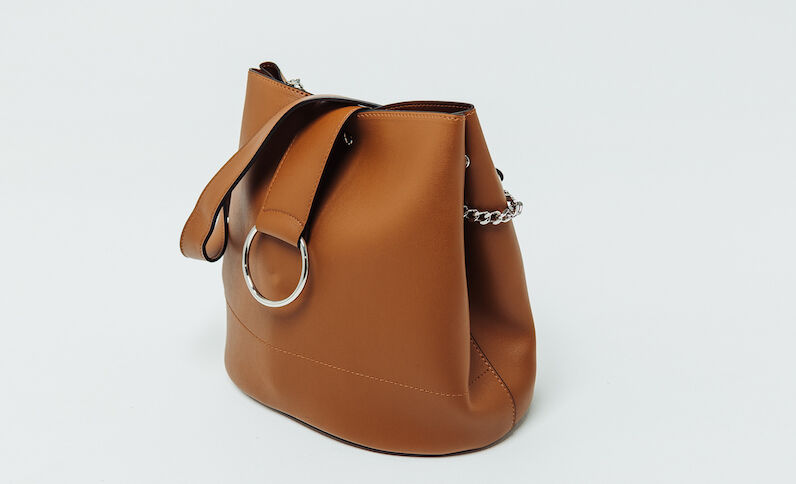Bucket bag karamel