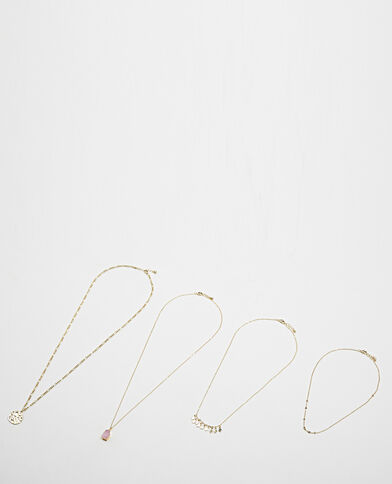 Lot de 4 colliers jaune