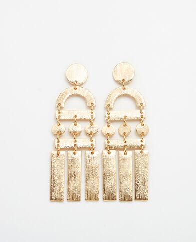 Metalen XL-oorbellen goudkleurig