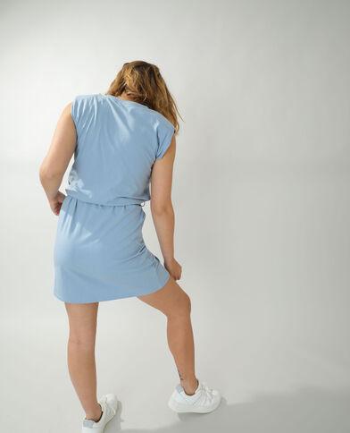 Rechte jurk met epauletten blauw - Pimkie