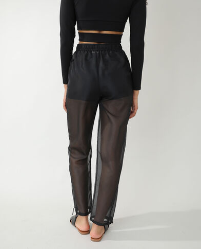 Transparante broek zwart - Pimkie