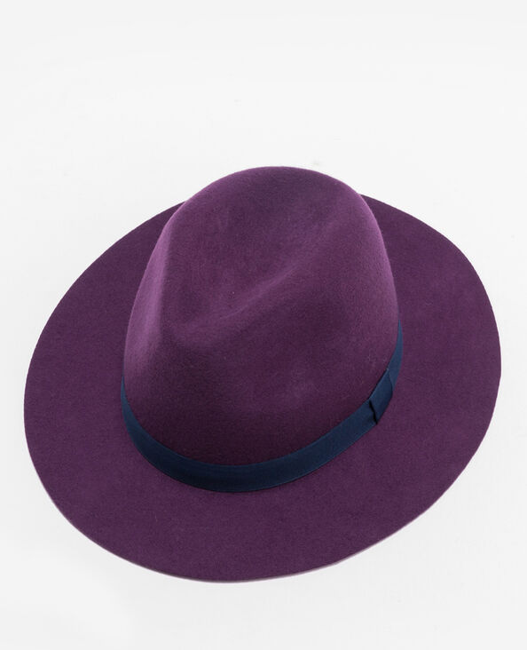 Tweekleurige deukhoed violet