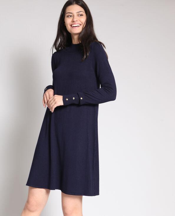 Robe pull bleu marine