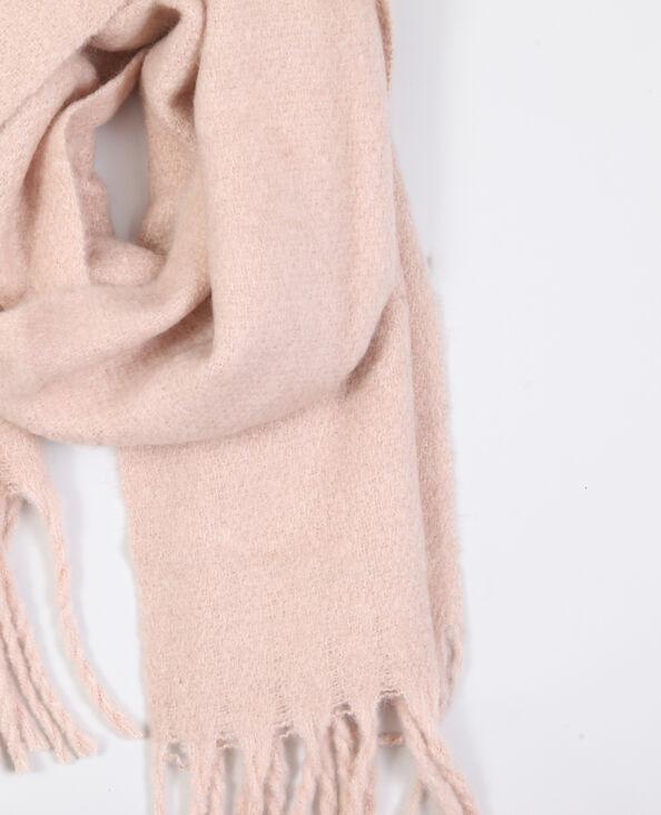 Sjaal met franjes roze