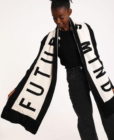 Sjaal met Future is mind-opschrift zwart