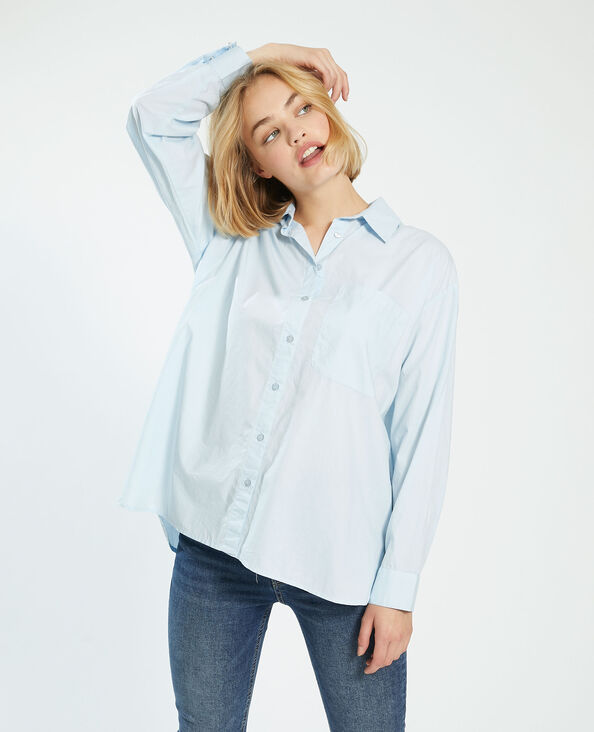 Oversized hemd blauw - Pimkie