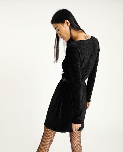Robe en velours noir