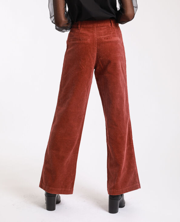 Pantalon velours rouille