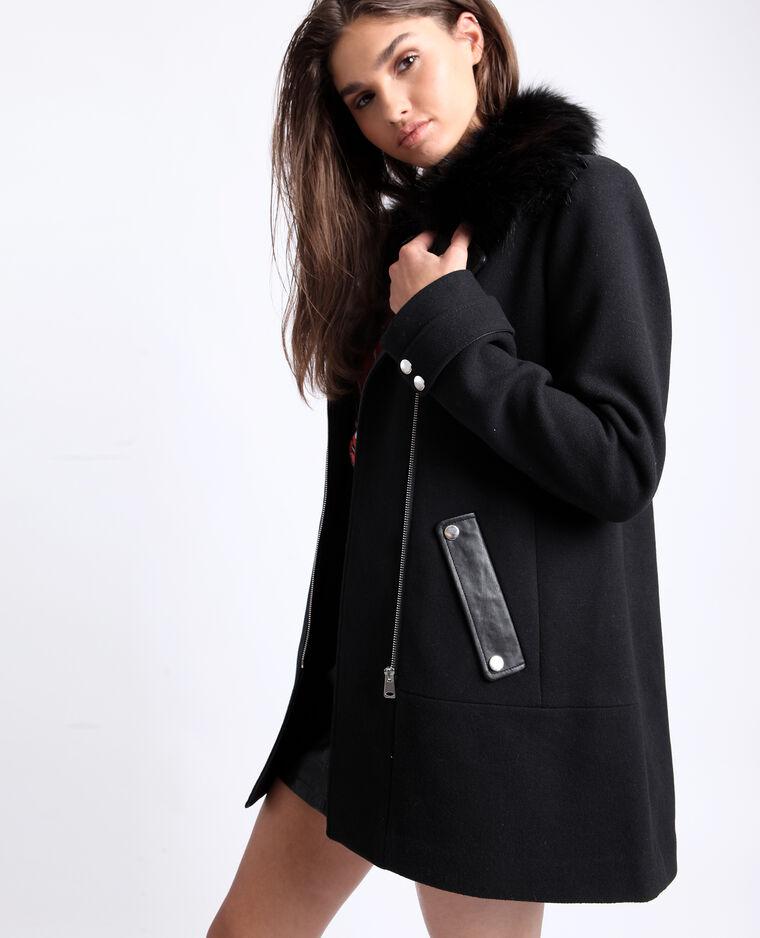 Manteau mi-long noir