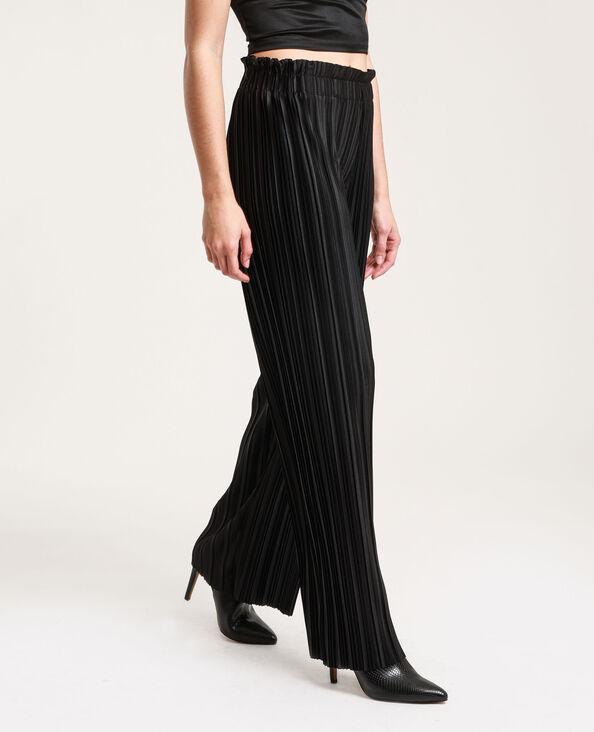Pantalon plissé noir