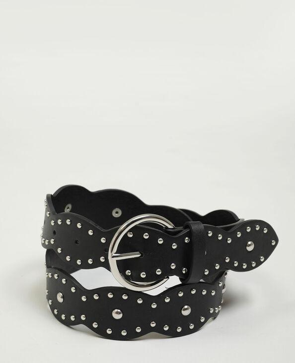 Kunstleren riem met studs zwart - Pimkie