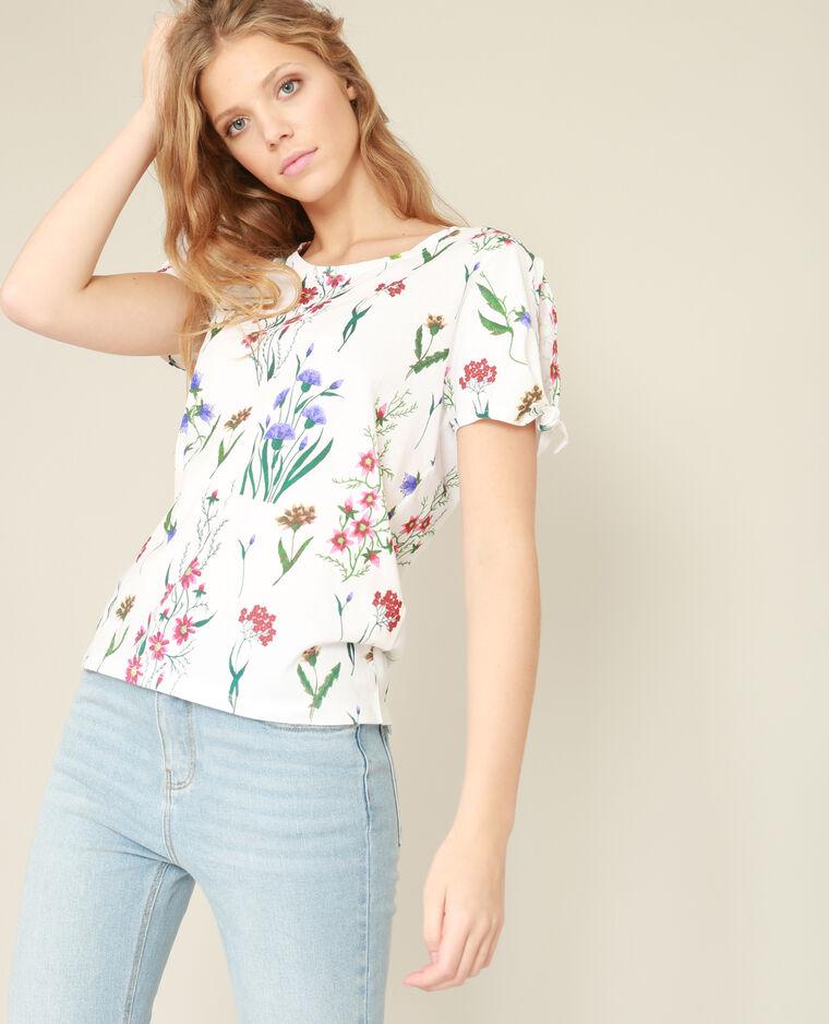 T-shirt imprimé blanc cassé - 403116912C0A   Pimkie 2ec1f44b8959