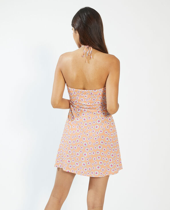 Robe dos nu à fleurs orange - Pimkie