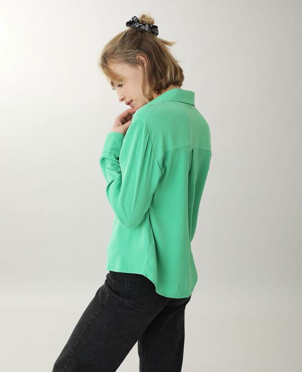 Soepel hemd groen