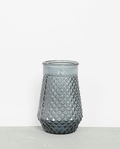 Kleurrijke glazen pot wit