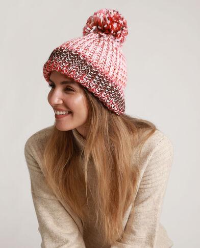 Bonnet à pompon rose