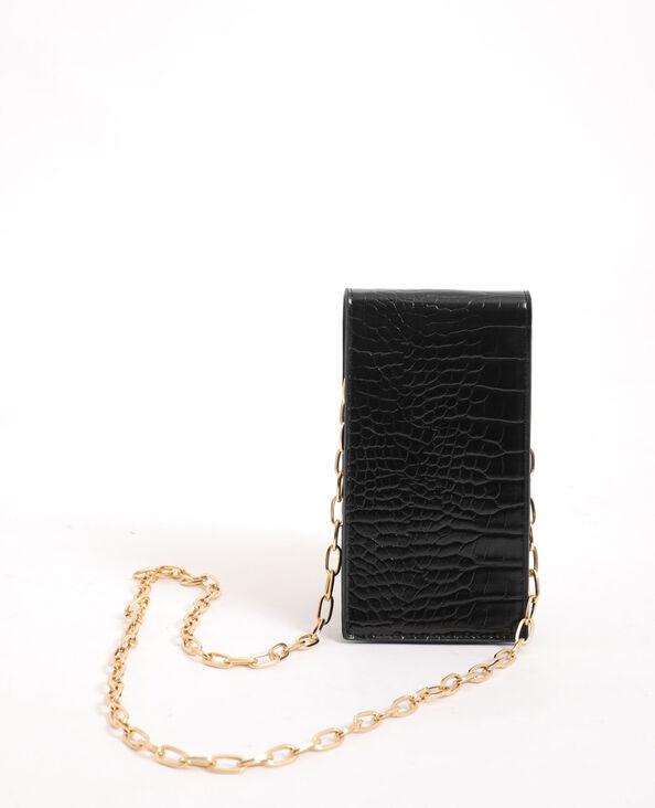 Smartphonetasje met schouderband zwart