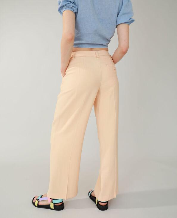 Wide leg broek met lage taille beige - Pimkie