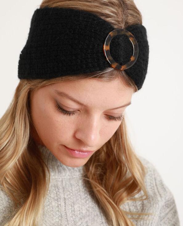 Haarband met gesp zwart