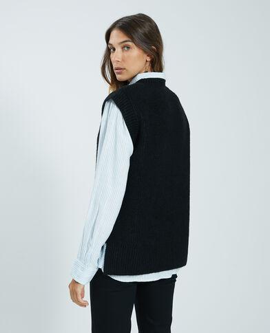 Mouwloze trui zwart - Pimkie