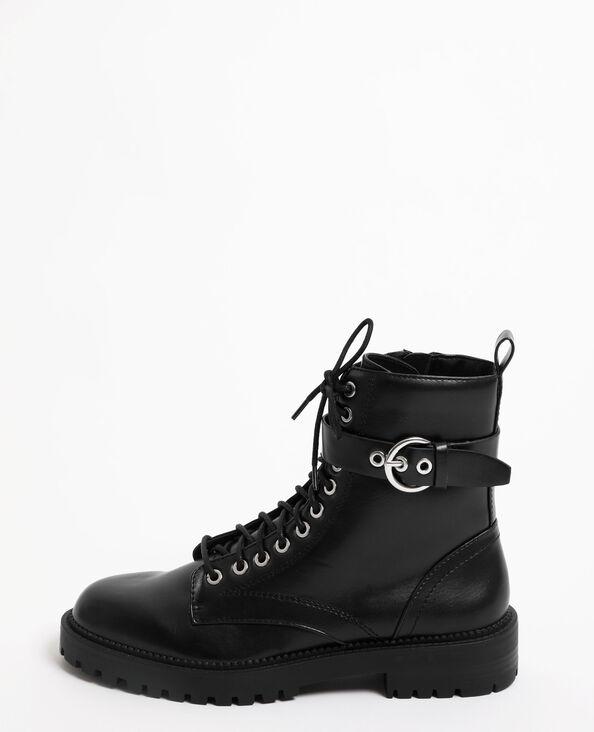Boots à lacets noir