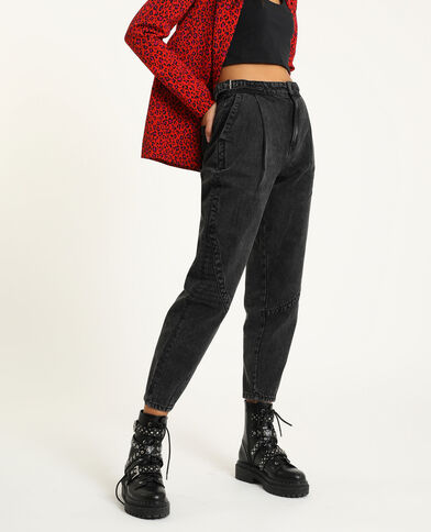 Slouchy jeans zwart