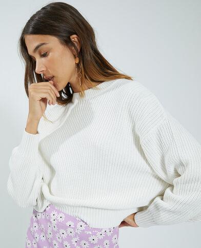 Trui van tricot wit - Pimkie