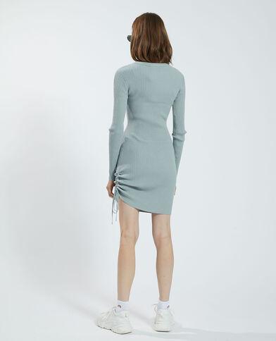 Trui-jurk met strik groen - Pimkie