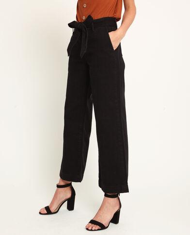 Jeans met brede pijpen zwart