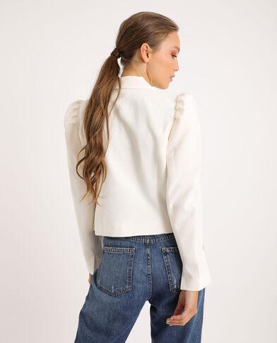 Kort jasje gebroken wit