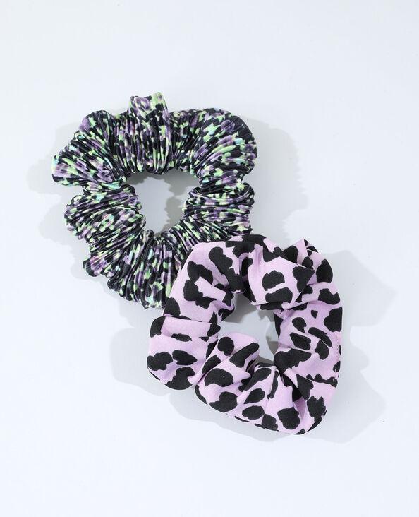 Set van 2 scrunchies violet