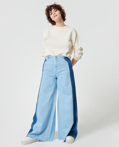 Tweekleurige baggy jeans Lichtblauw - Pimkie