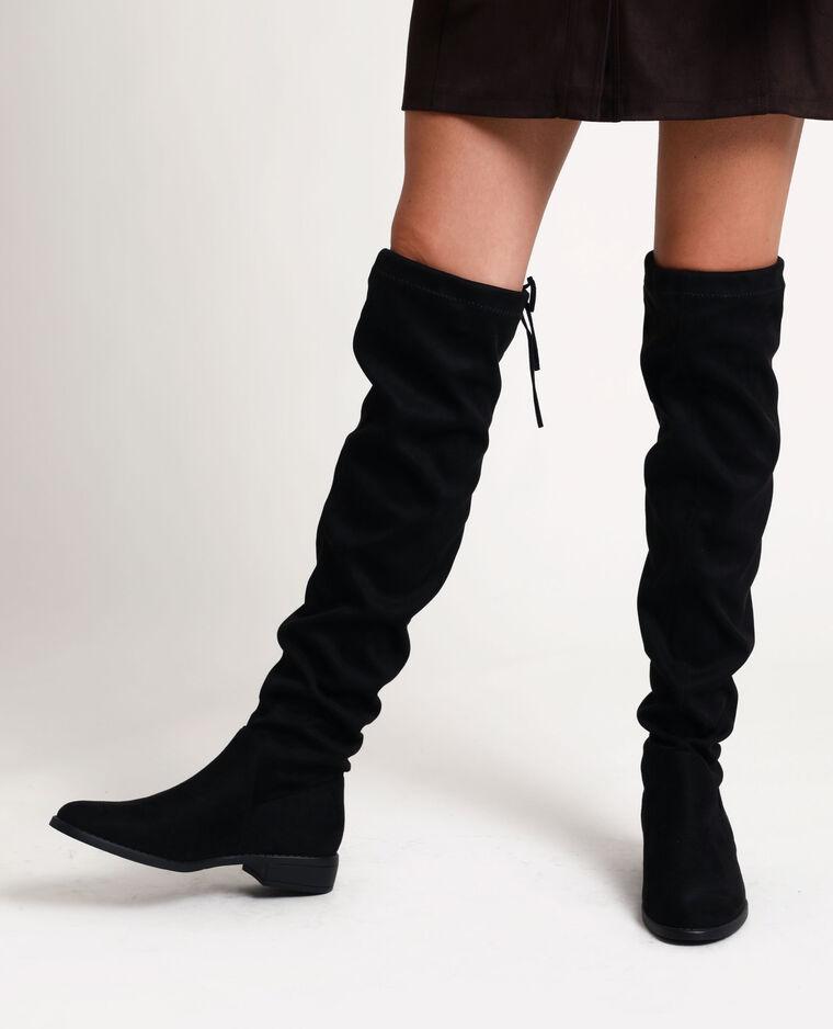 Cuissardes style suédine noir