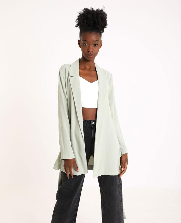 Soepele blazer groen