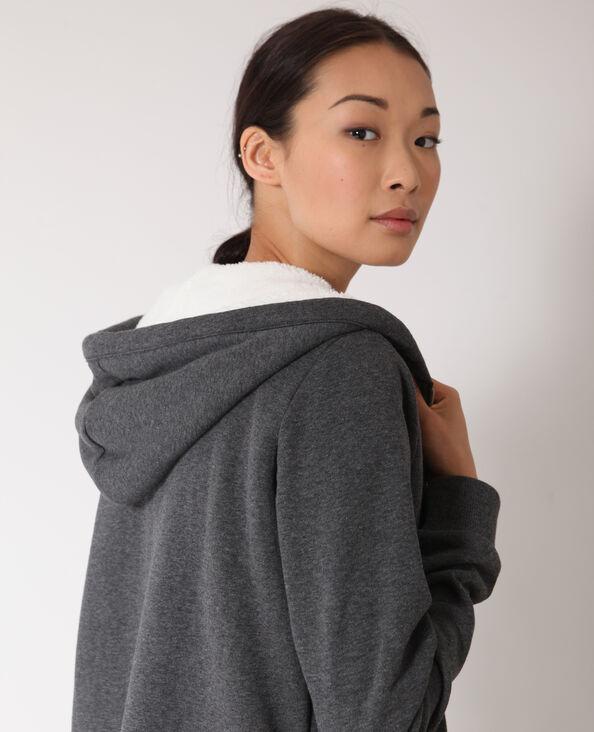 Sweater met rits grijs