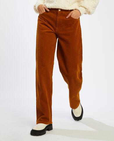 Fluwelen broek karamel - Pimkie