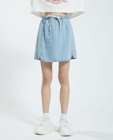 Jupe en jean à nouer bleu délavé - Pimkie