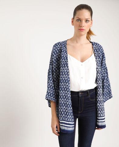 Bedrukte kimono blauw