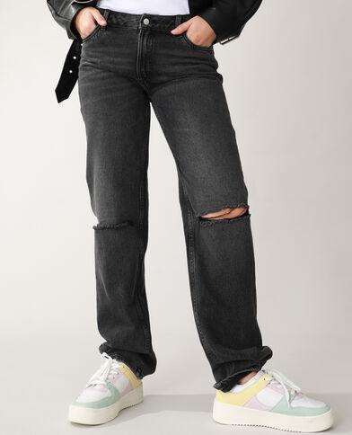 Straight-fit jeans met hoge taille zwart - Pimkie