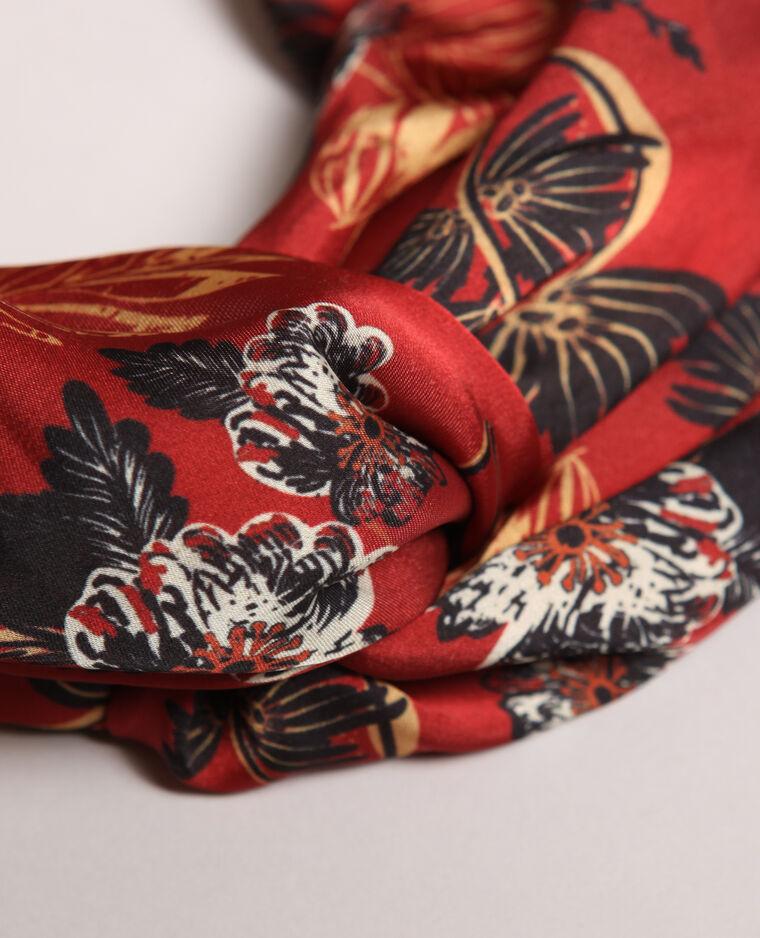 Haarband met print rood