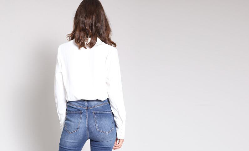 Soepelvallend hemd wit