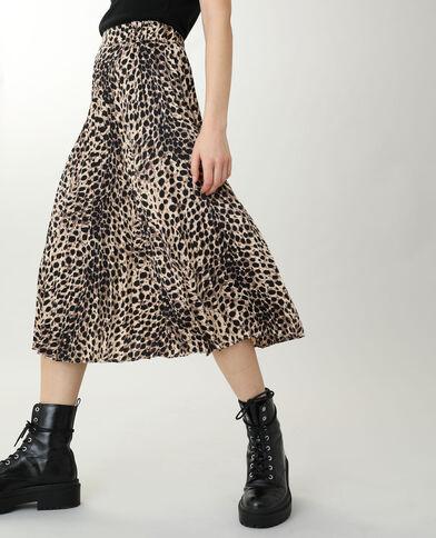 Lange, geplooide rok zwart - Pimkie