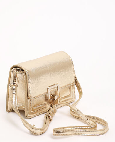 Mini sac boxy doré