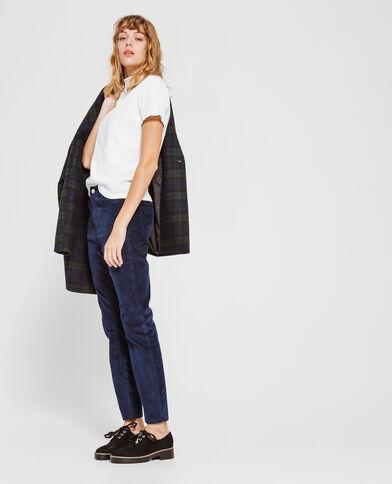 Skinny broek van fluweel marineblauw