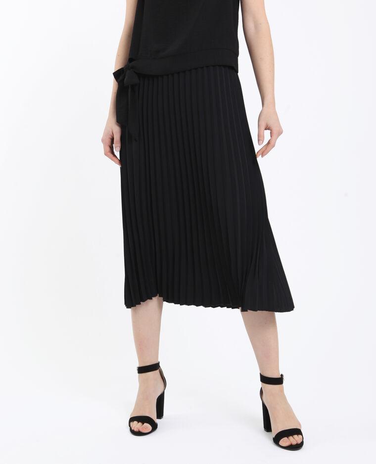 Geplooide rok zwart