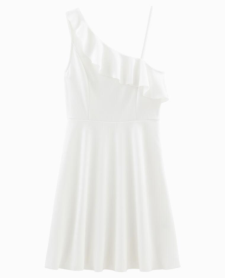 Robe asymétrique blanc cassé