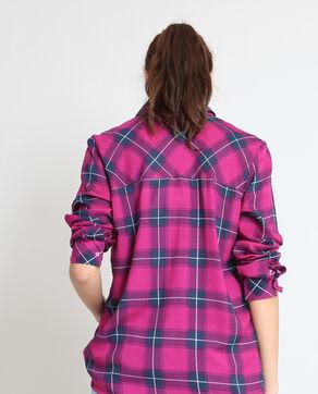 Chemise à carreaux rose